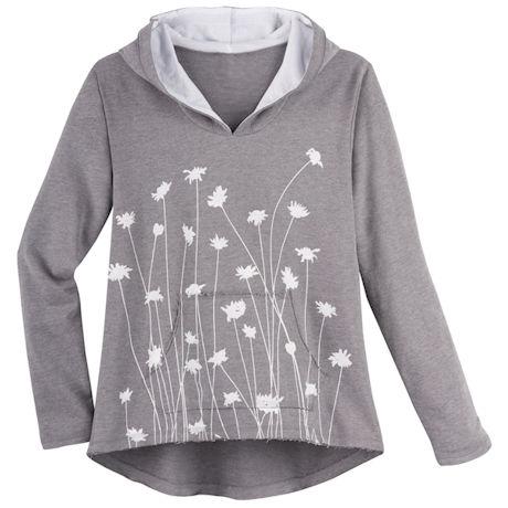 Marushka Straw Flowers Hooded Sweatshirt