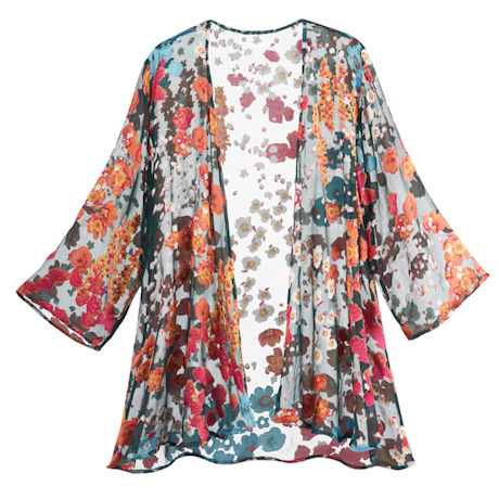 Floral Burnout Jacket