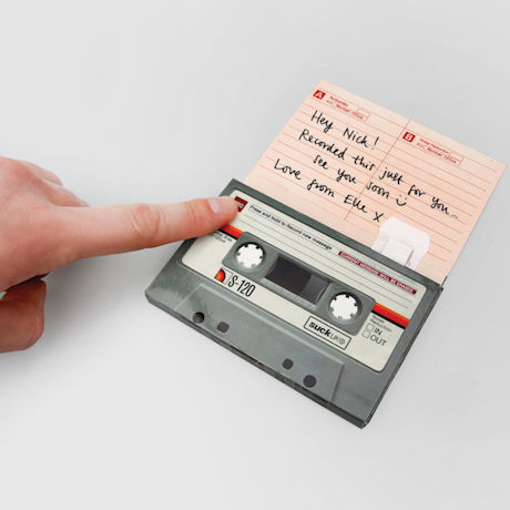 Recordable Cassette Tape Greeting Card