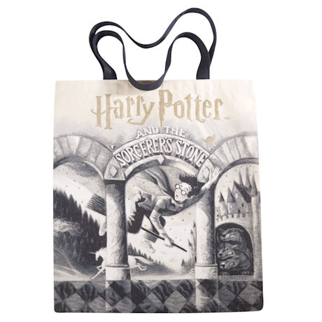 Harry Potter Book Cover Canvas Tote