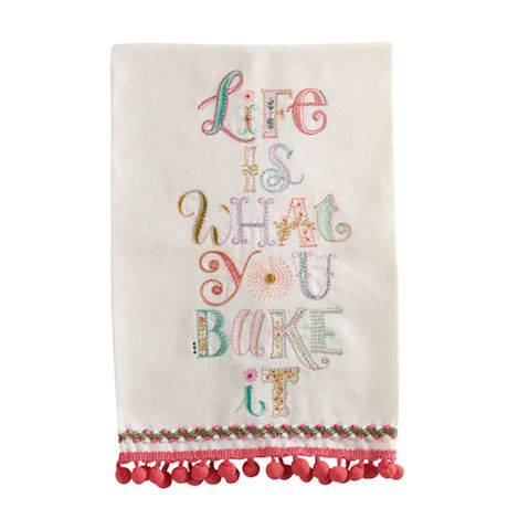 Life Is What You Bake It Tea Towel
