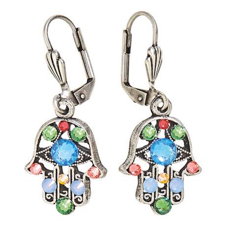Crystal Hamsa Earrings