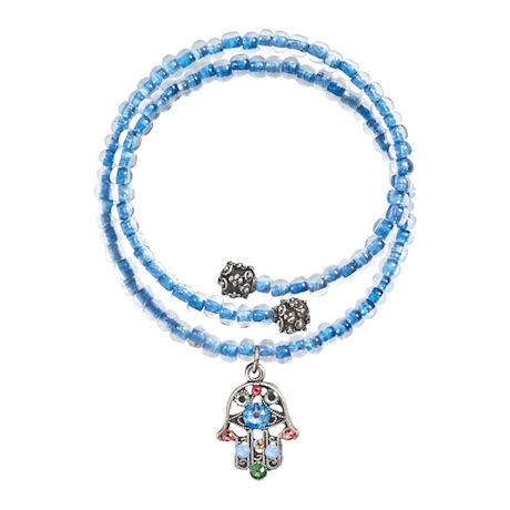 Crystal Hamsa Wrap Bracelet