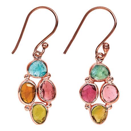 Tourmaline Cluster Earrings