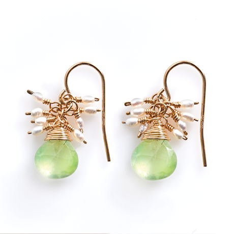 Aventurine and  Pearls Earrings