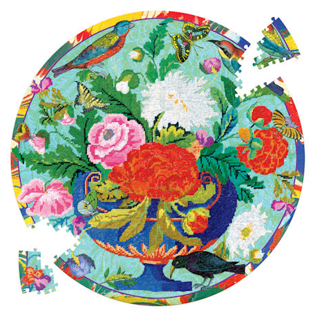 Bouquet and Birds Jigsaw Puzzle