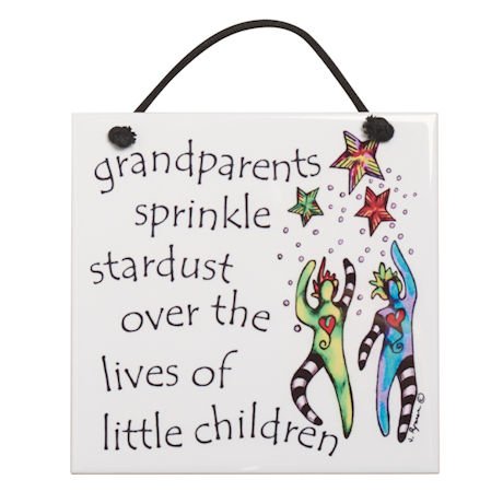 Grandparents Sprinkle Stardust Plaque