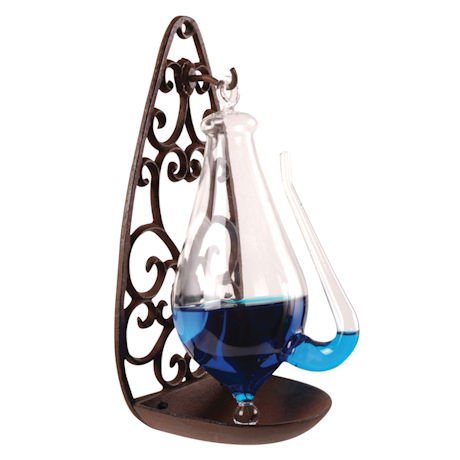 Weatherglass with Cast Iron Stand