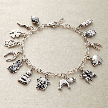 Sterling Silver Lucky Charms Bracelet