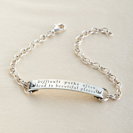 Sterling Silver Difficult Paths Bracelet