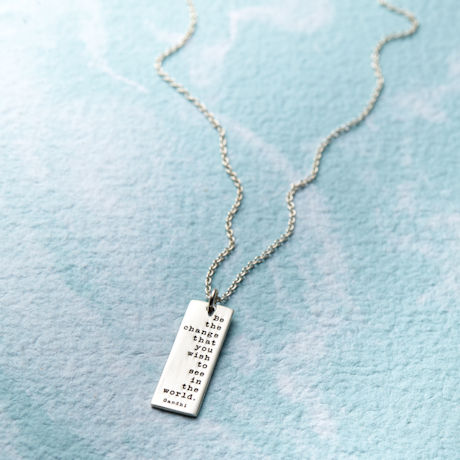 Sterling Silver Be the Change Necklace