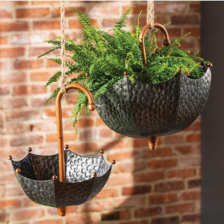Umbrella Hanging Planters - Set of 2