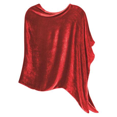 Silk Velvet Poncho