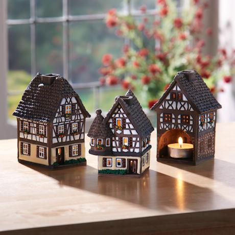 Medieval Village Tea Light Lanterns
