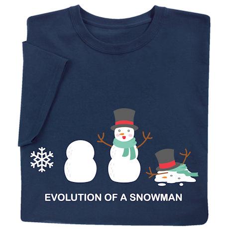 Evolution of a Snowman Shirts