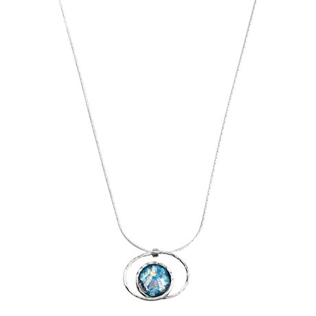 Roman Glass in Orbit Necklace