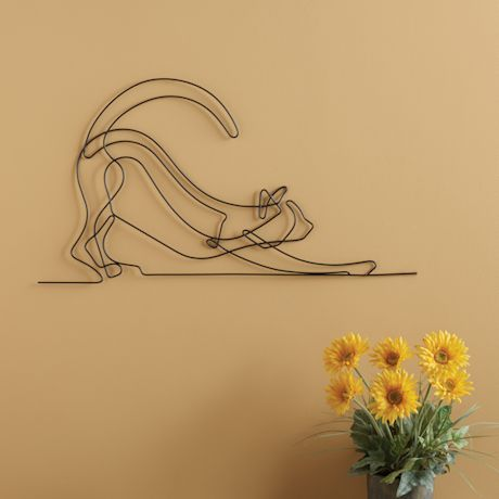 Stretching Cat Wall Art