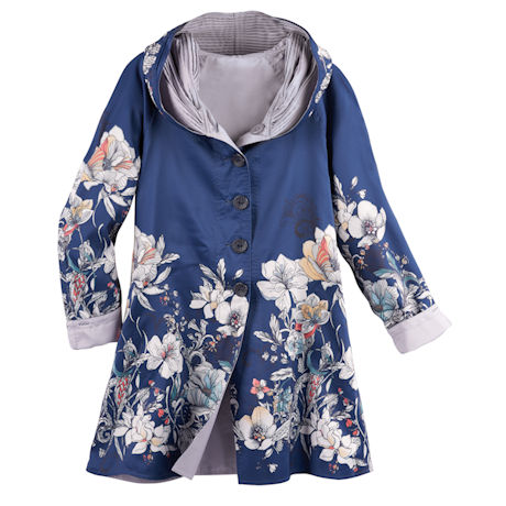 Reversible Wildflowers Raincoat