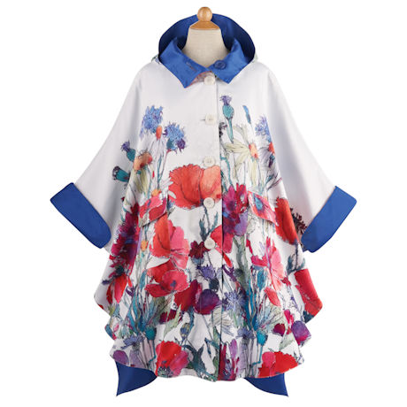 Reversible Royal Garden Batwing Raincoat