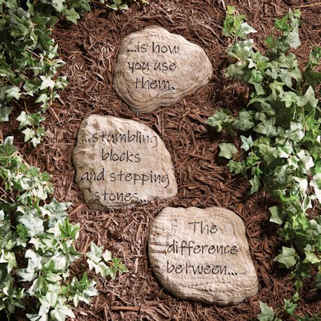 Wisdom Stepping Stones - Set of 3
