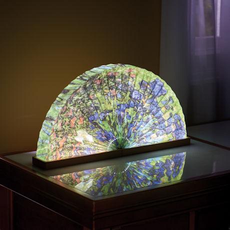Irises Fan-Shaped Accent Lamp