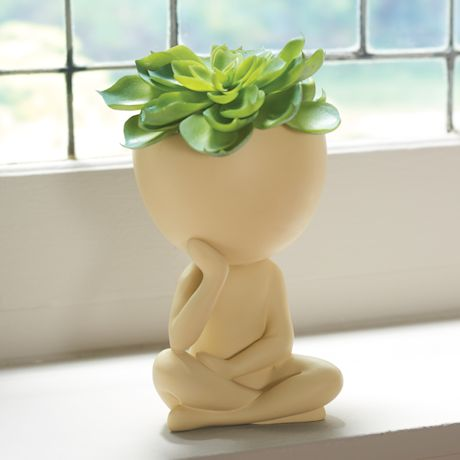 Seated Figure Planter