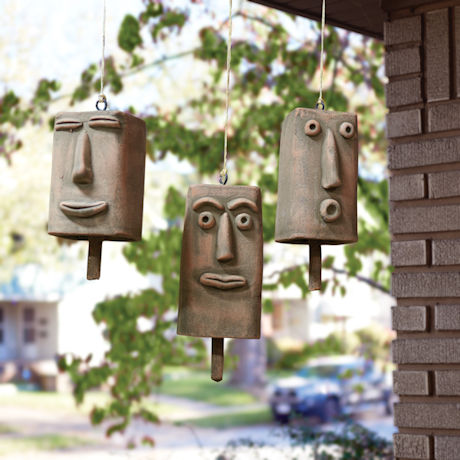 Clay Face Hanging Bells Set