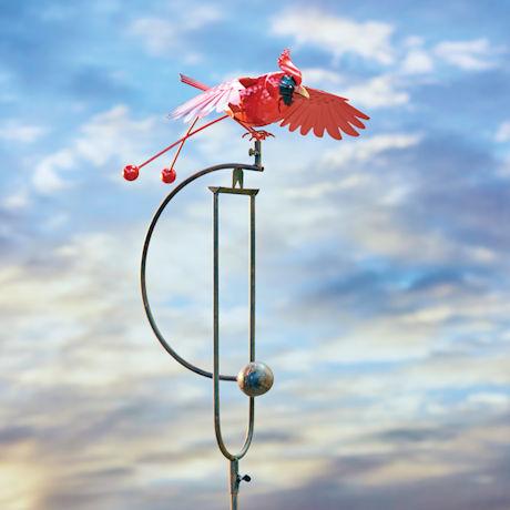 Cardinal Balancing Garden Stake