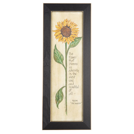 The Flower That Blooms in Adversity Framed Wall Art