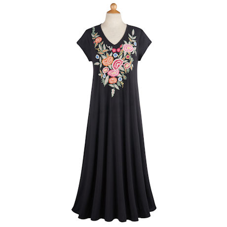 Ana Embroidered T-Shirt Dress