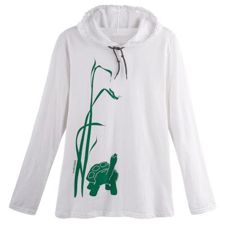 Marushka Turtle and Caterpillar Hooded T-Shirt