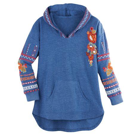Talia Embroidered Hooded Tunic