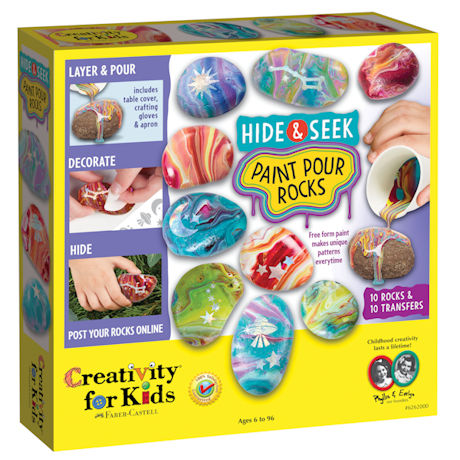 Paint Pour Rock Painting Kit