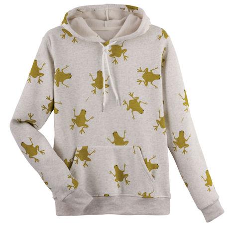 Jumping Frogs Hooded Sweatshirt