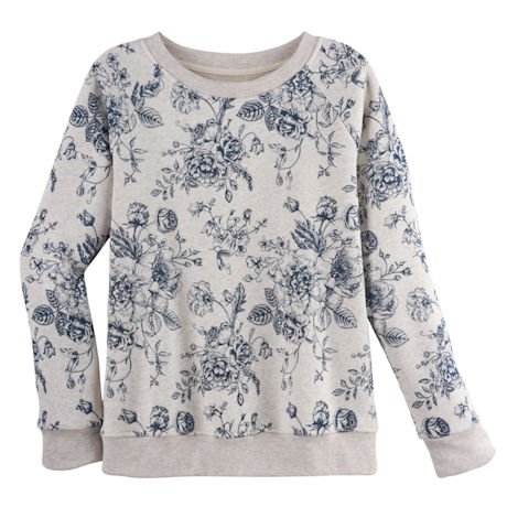 Blue Toile Sweatshirt - Crewneck