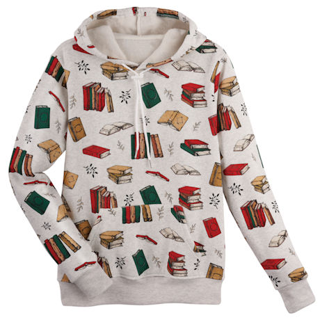 Books All Over Hooded Sweatshirt