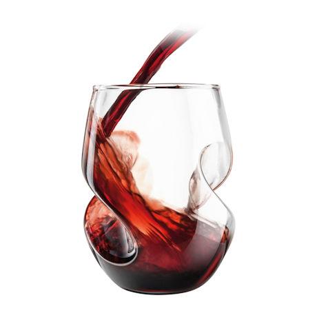 Finishing Touch Aerating Wine Glasses Set of 4