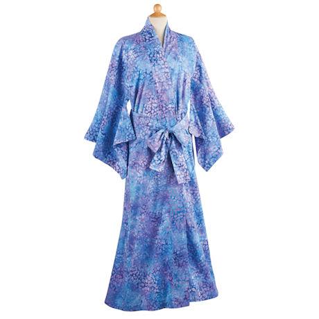 Blue Batik Kimono Robe