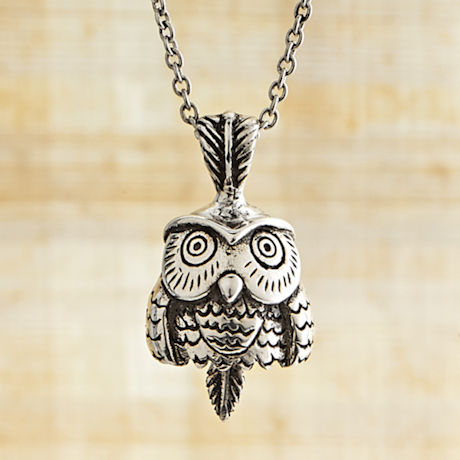Owl Bell Necklace