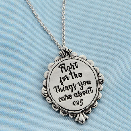 Ruth Bader Ginsburg Fight Necklace