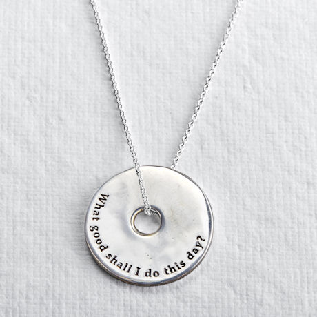 Benjamin Franklin What Good Shall I Do This Day Necklace