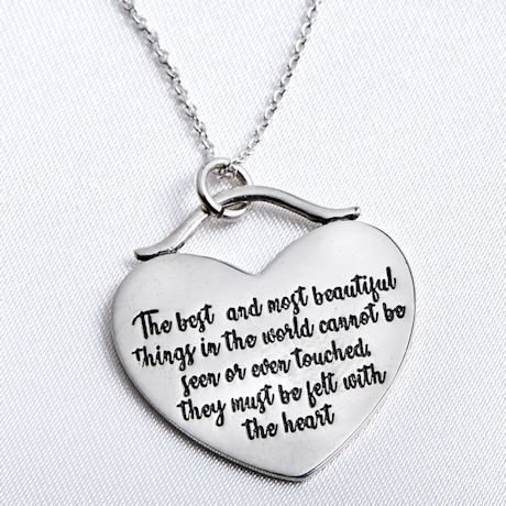 Helen Keller Best and Most Beautiful Things Necklace