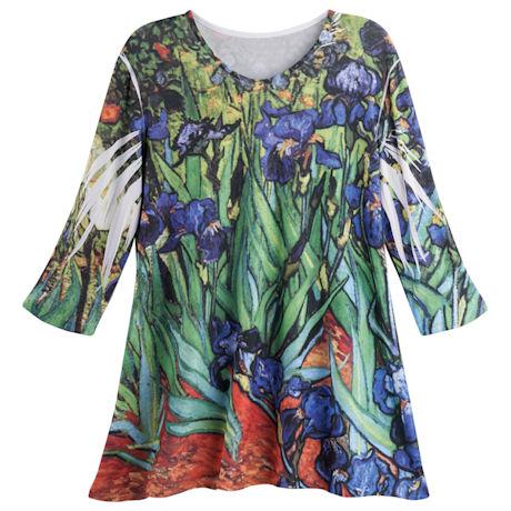 Irises Fine Art Tunic