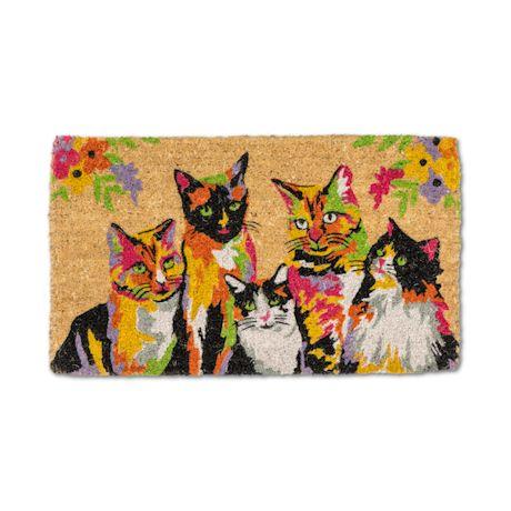 Abstract Cats Doormat