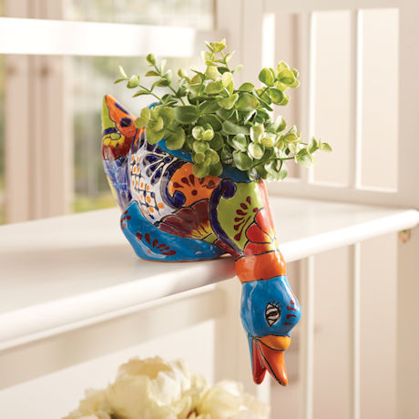Mexican Folk Art Flower Pot