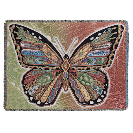 Sue Coccia Monarch Butterfly Throw