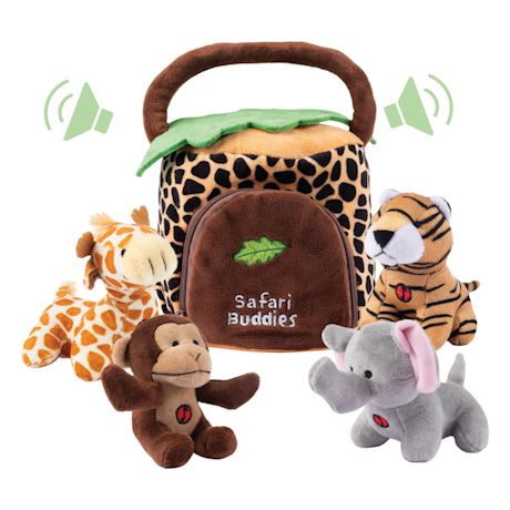 Plush Talking Toy Set - Safari Buddies