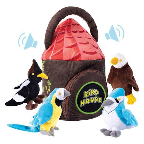 Plush Talking Toy Set - Bird House