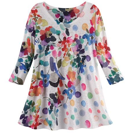 Watercolor Floral Tunic