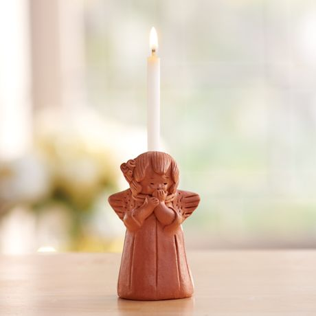 Blushing Angel Candle Holder